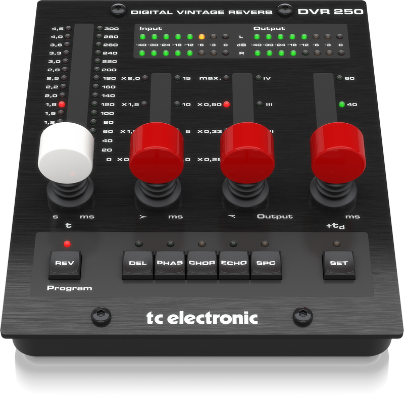 TC ELECTRONIC DVR250-DT DIGITAL VINTAGE REVERB WITH INSPIRING HARDWARE INTERFACE