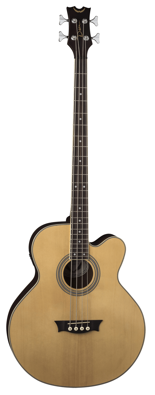 DEAN EABC ACOUSTIC-ELECTRIC BASS WITH CUTAWAY NATURAL