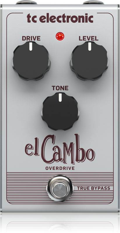 TC ELECTRONIC EL CAMBO OVERDRIVE CLASSIC TUBE OVERDRIVE PEDAL WITH INTUITIVE 3-KNOB INTERFACE FOR ESSENTIAL BLUES ROCK TONES