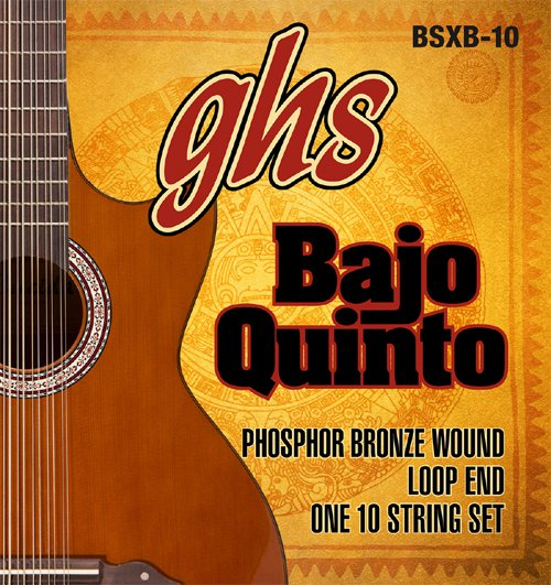 GHS BAJO QUINTO STRINGS BSXB-10 PHOSPHOR BRONZE 10-STRING