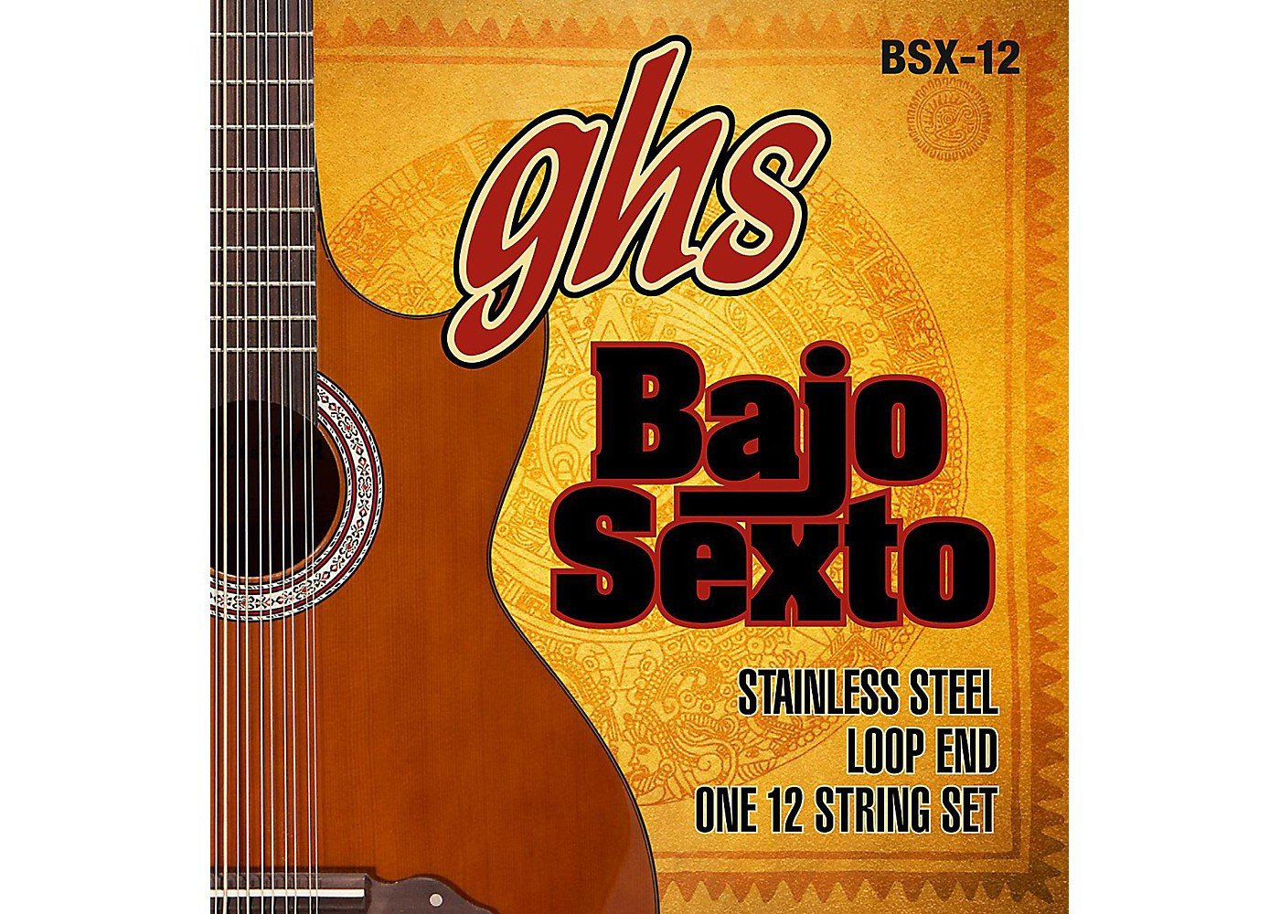 GHS BAJO SEXTO STRINGS BSX-12 STAINLESS STEEL 12-STRING