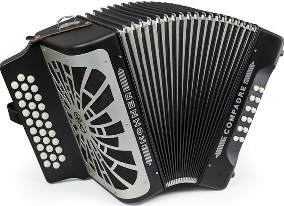 HOHNER COFB COMPADRE BUTTON ACCORDION BLACK FA