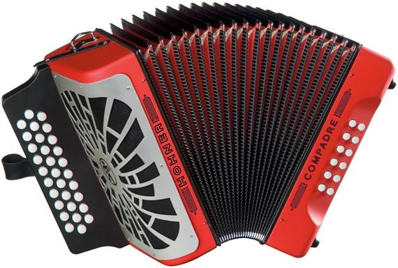 HOHNER COGR COMPADRE BUTTON ACCORDION RED SOL