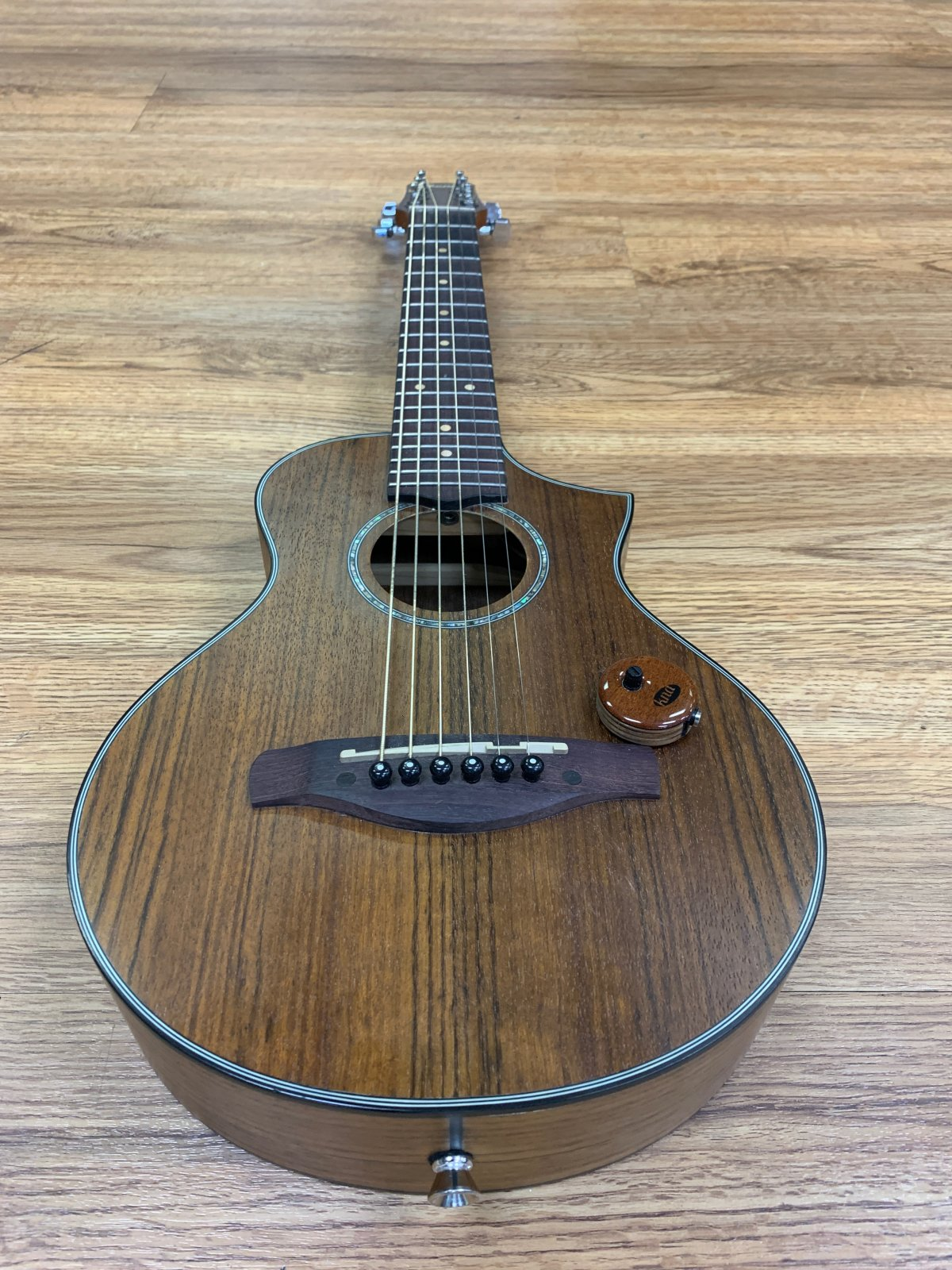 IBANEZ EWP14-0PN EXOTIC WOOD PICCOLO ACOUSTIC GUITAR W/TRANSDUCER PICKUP (USED)