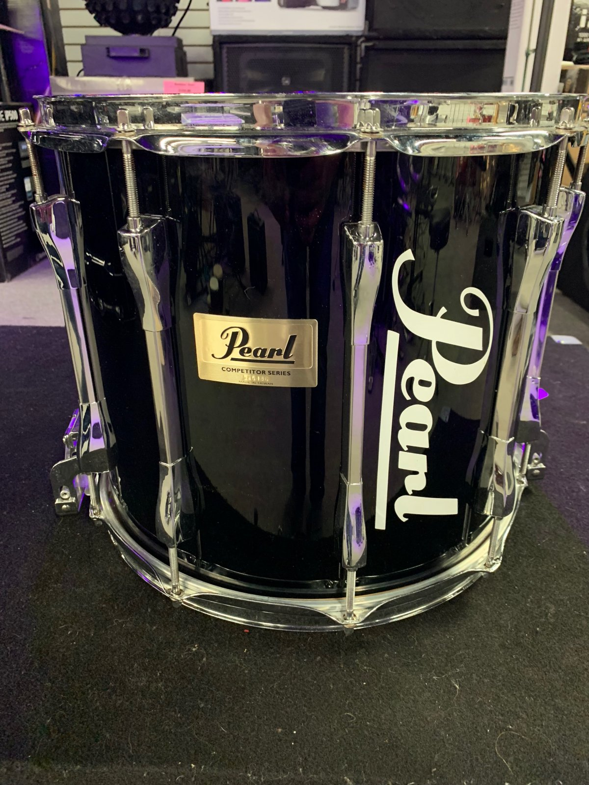 Pearl Competitor Traditional Marching Snare Drum 14x12 Black (Used)
