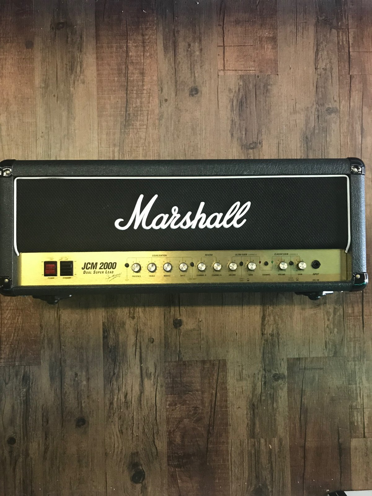 MARSHALL JCM2000 DSL100 DUAL SUPER LEAD 100W TUBE AMPLIFIER HEAD (1998)