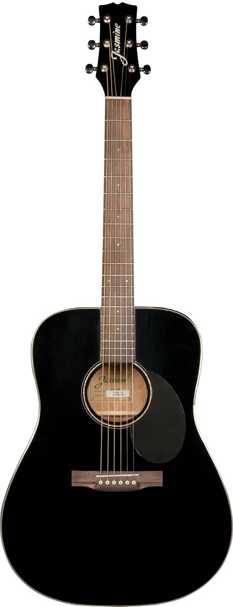 JASMINE JD39-BLK DREADNOUGHT GUITAR SOLID SPRUCE TOP BLACK