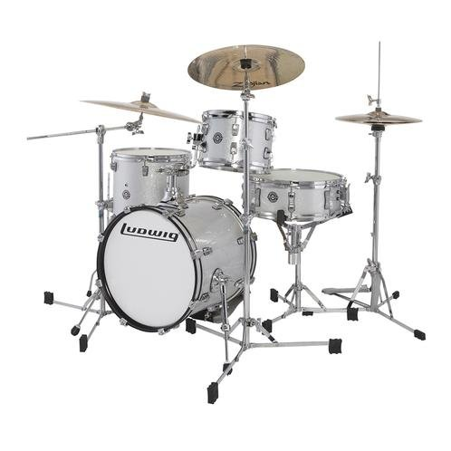 LUDWIG BREAKBEATS QUESTLOVE 4 PC. SHELL PACK WHITE SPARKLE