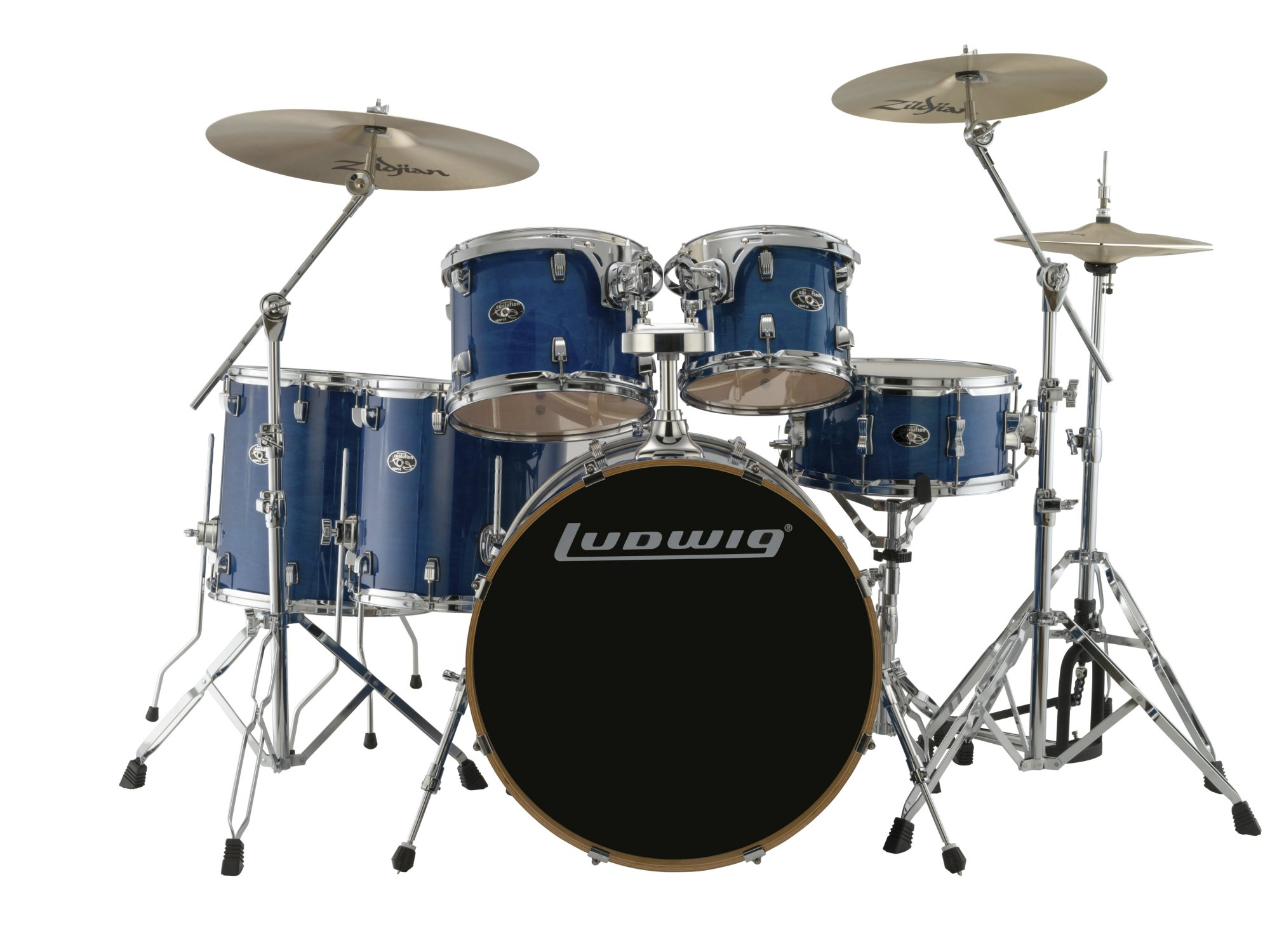 LUDWIG EVOLUTION MAPLE 6 PIECE SHELL PACK TRANSPARENT BLUE