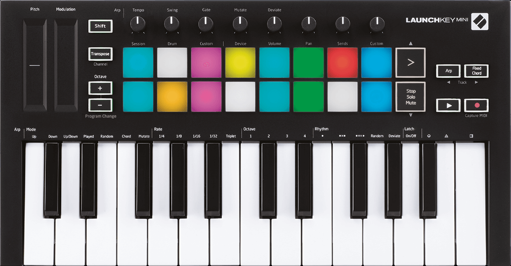 NOVATION LAUNCHKEY MINI MK3 USB/MIDI KEYBOARD CONTROLLER 16 PADS