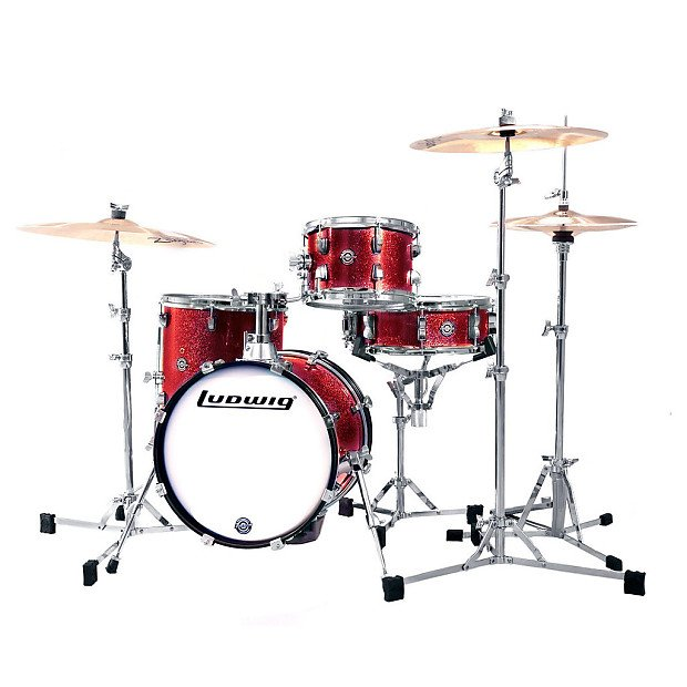 LUDWIG BREAKBEATS QUESTLOVE 4 PC. SHELL PACK RED SPARKLE