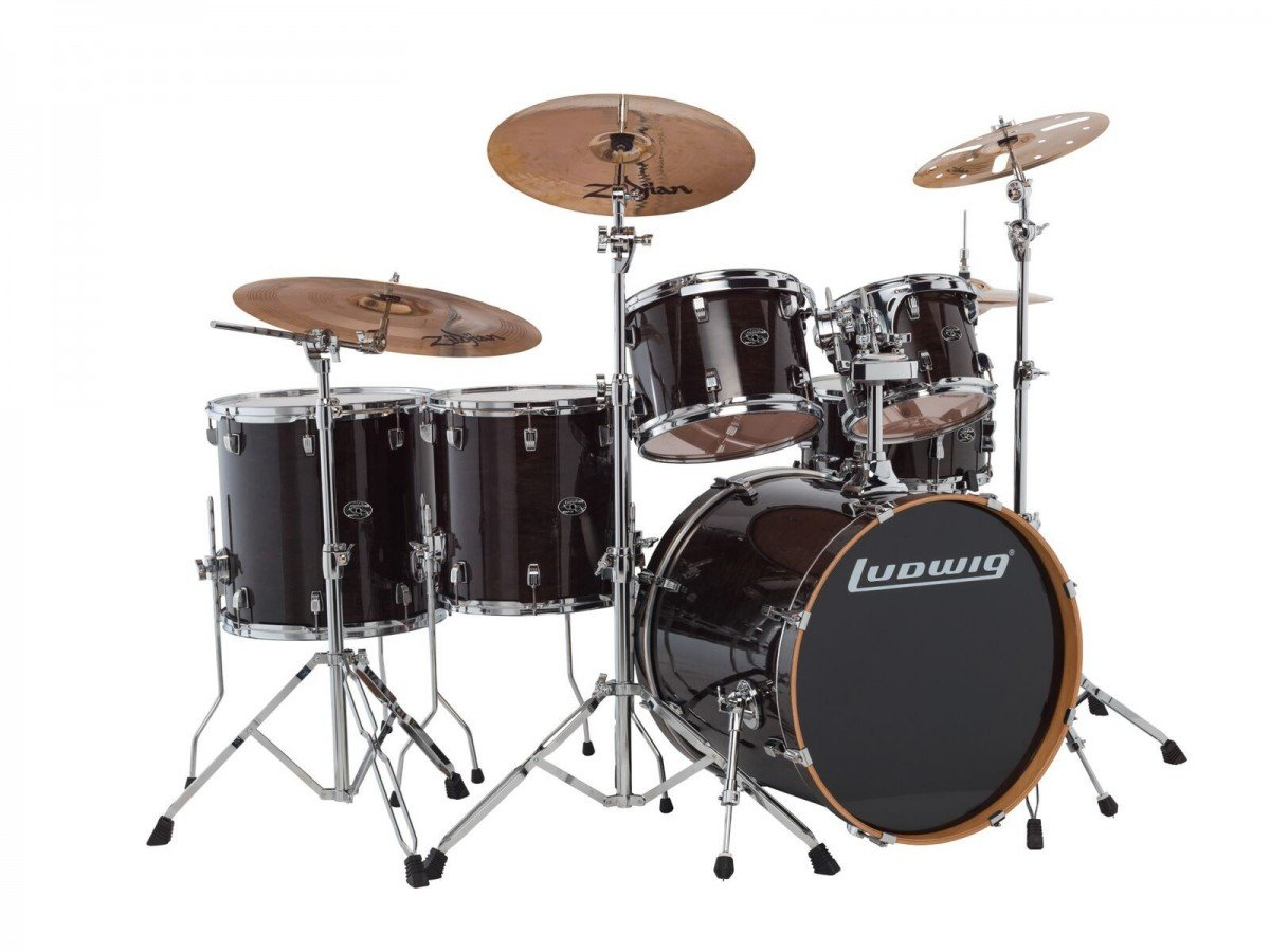 LUDWIG EVOLUTION MAPLE 6 PC. SHELL PACK TRANS. BLACK