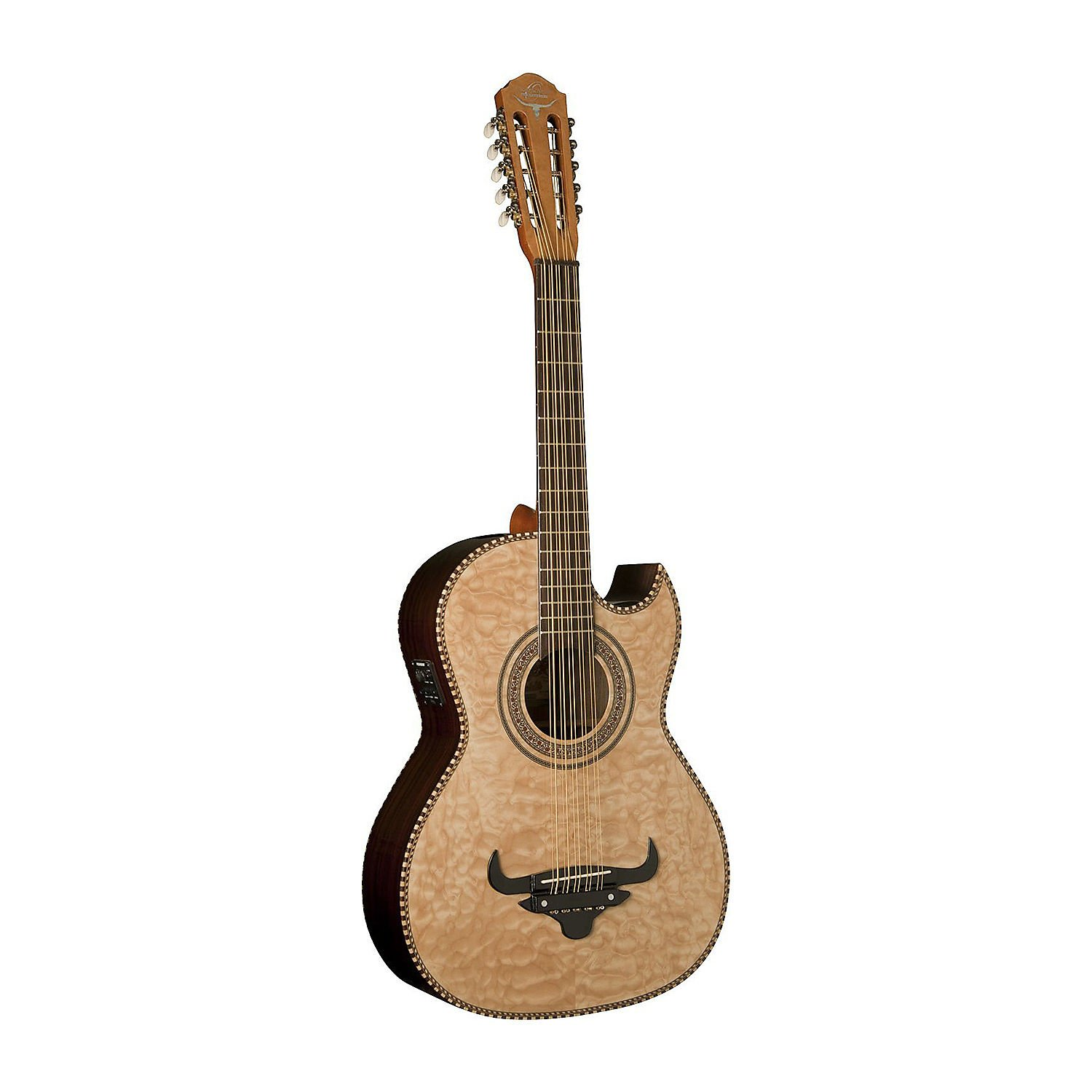 OSCAR SCHMIDT OH32SEQN BAJO QUINTO ACOUSTIC-ELECTRIC QUILT MAPLE NATURAL