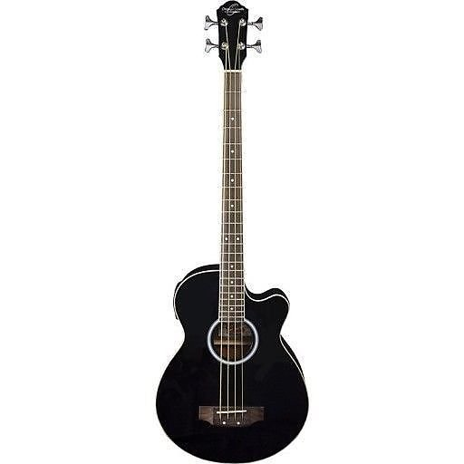 OSCAR SCHMIDT OB100B ACOUSTIC-ELECTRIC BASS GUITAR BLACK