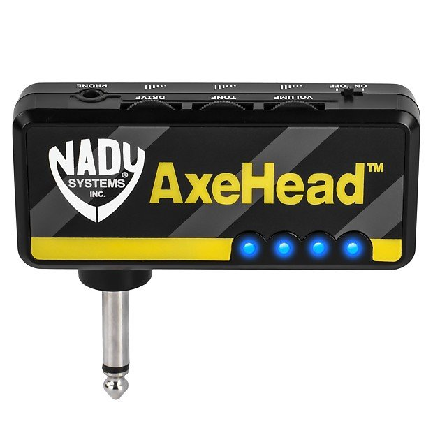 NADY AXEHEAD MINI GUITAR HEADPHONE AMP W/RECHARGEABLE BATTERY