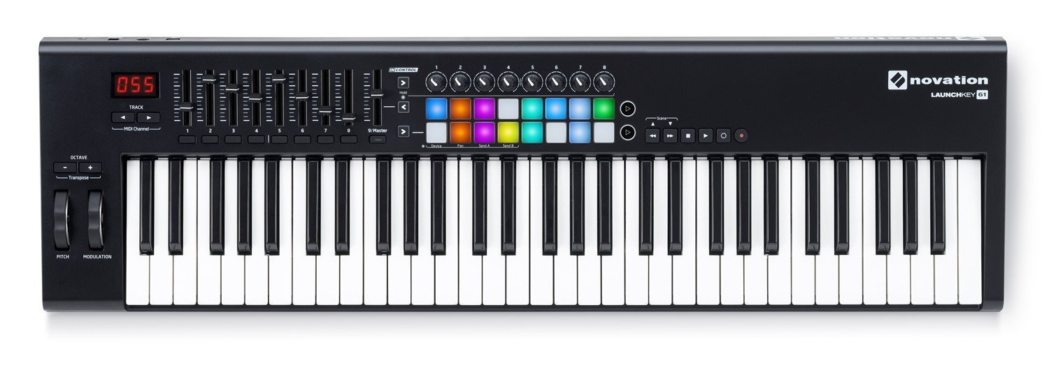 NOVATION LAUNCHKEY 61 USB/MIDI KEYBOARD CONTROLLER 16 PADS