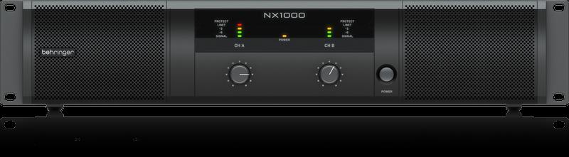 BEHRINGER NX1000 POWER AMPLIFIER ULTRA-LIGHTWEIGHT 1000W