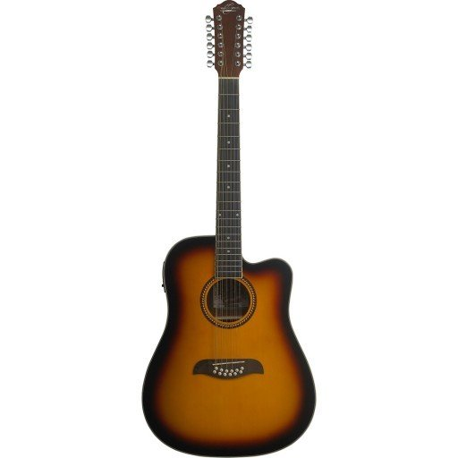 OSCAR SCHMIDT OD312CETS DREADNOUGHT ACOUSTIC-ELECTRIC 12 STRING GUITAR TOB. SUNBURST
