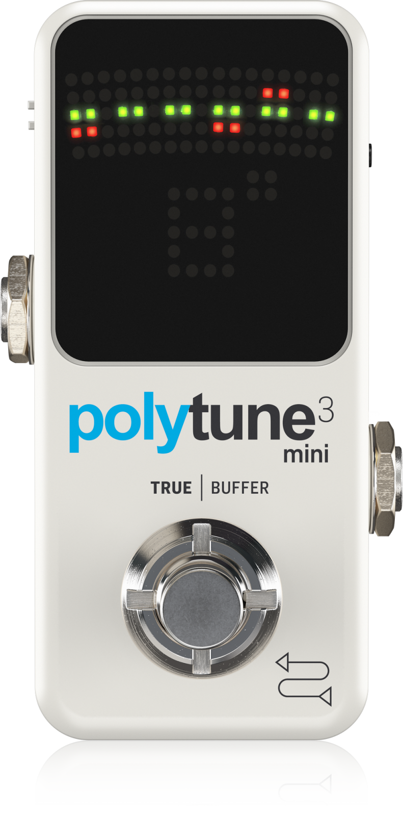 TC ELECTRONIC POLYTUNE 3 MINI ULTRA-COMPACT TUNER PEDAL WHITE