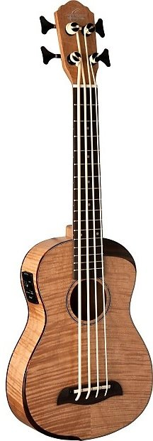 OSCAR SCHMIDT OUB800K BASS UKULELE ACOUSTIC-ELECTRIC FLAME MAPLE