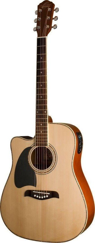 OSCAR SCHMIDT OG2CELH DREADNOUGHT LEFTY ACOUSTIC-ELECTRIC GUITAR NATURAL