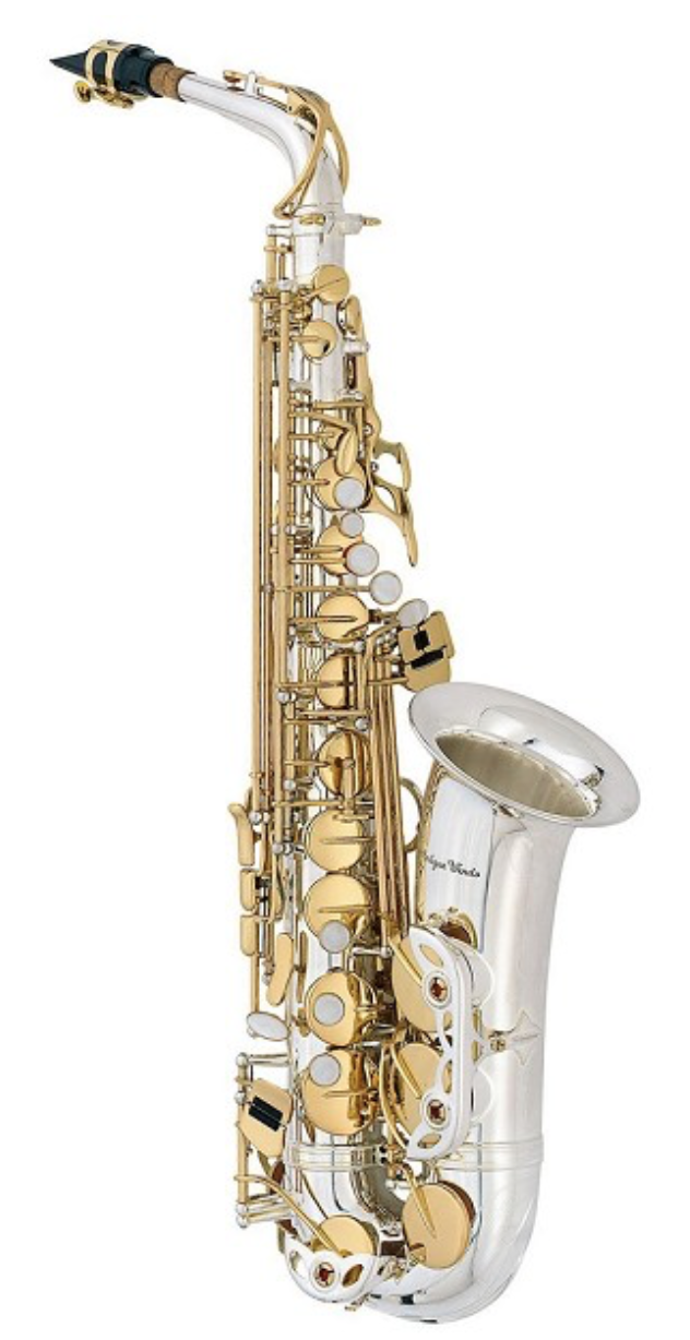 ANTIGUA WINDS AS3220SQ Eb ALTO SAXOPHONE SILVER PLATED W/GOLD KEYS