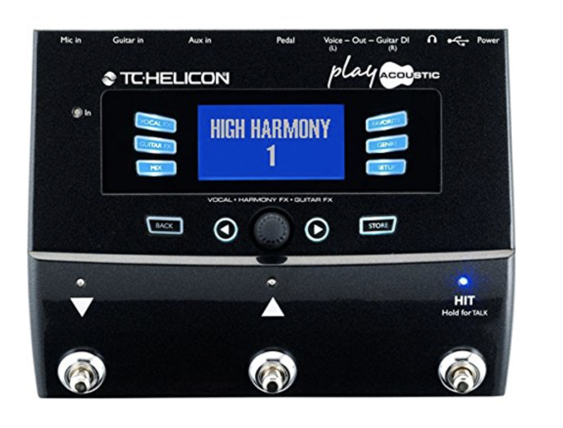 TC HELICON PLAY ACOUSTIC VOCAL & ACOUSTIC GUITAR EFFECTS PROCESSOR PEDAL (996364005)