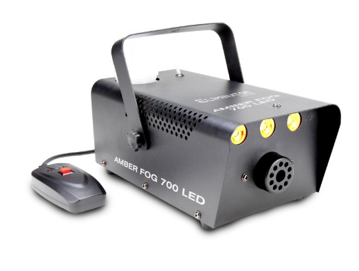 ELIMINATOR AMBER FOG 700 LED 700 WATT FOG MACHINE 3X3W LEDS