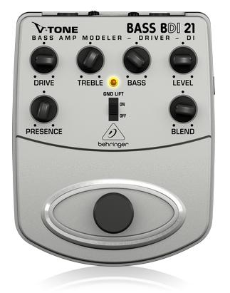 BEHRINGER BDI21 BASS AMP MODELER / DIRECT RECORDING PREAMP / DI BOX