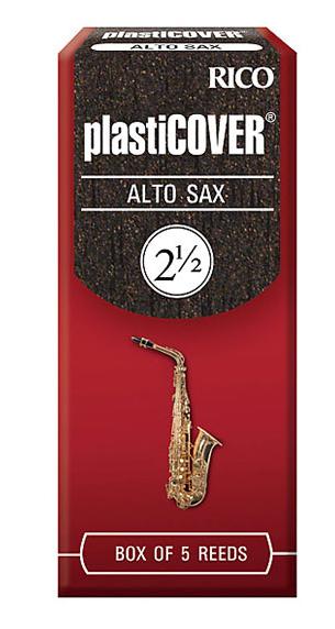 RICO PLASTICOVER REEDS FOR ALTO SAX SIZE 2 1/2 (BOX OF 5)