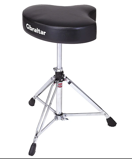 GIBRALTAR 6608 DRUM THRONE WITH MOTORCYCLE SEAT DOUBLE BRACED