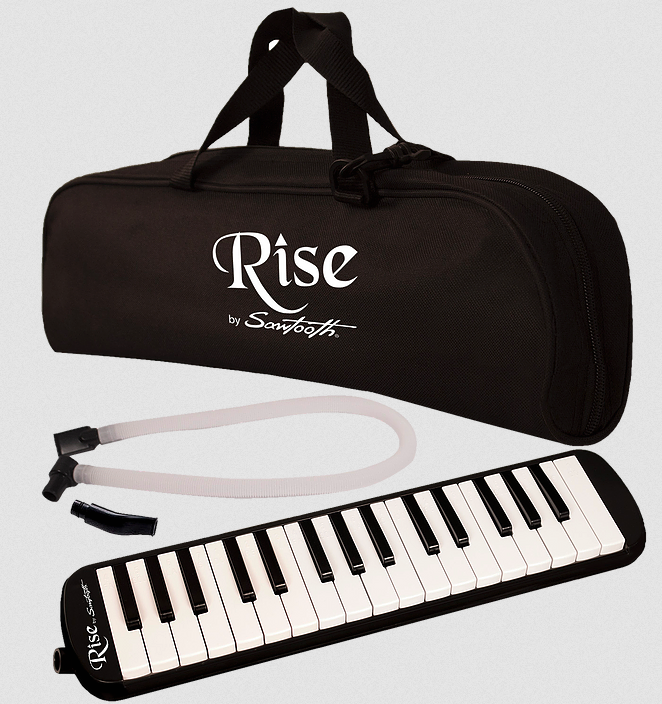 SAWTOOTH RISE ST-RISE-MEL-37-BLK PIANO STYLE MELODICA 37 KEYS, BLACK
