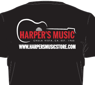 HARPER'S MUSIC T SHIRT LARGE