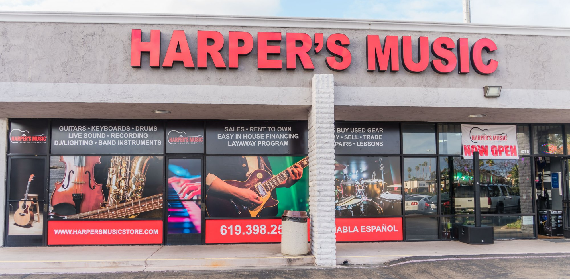 Harper's Music Store location in Chula Vista near San Diego
