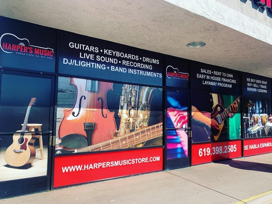 music near instruments repair