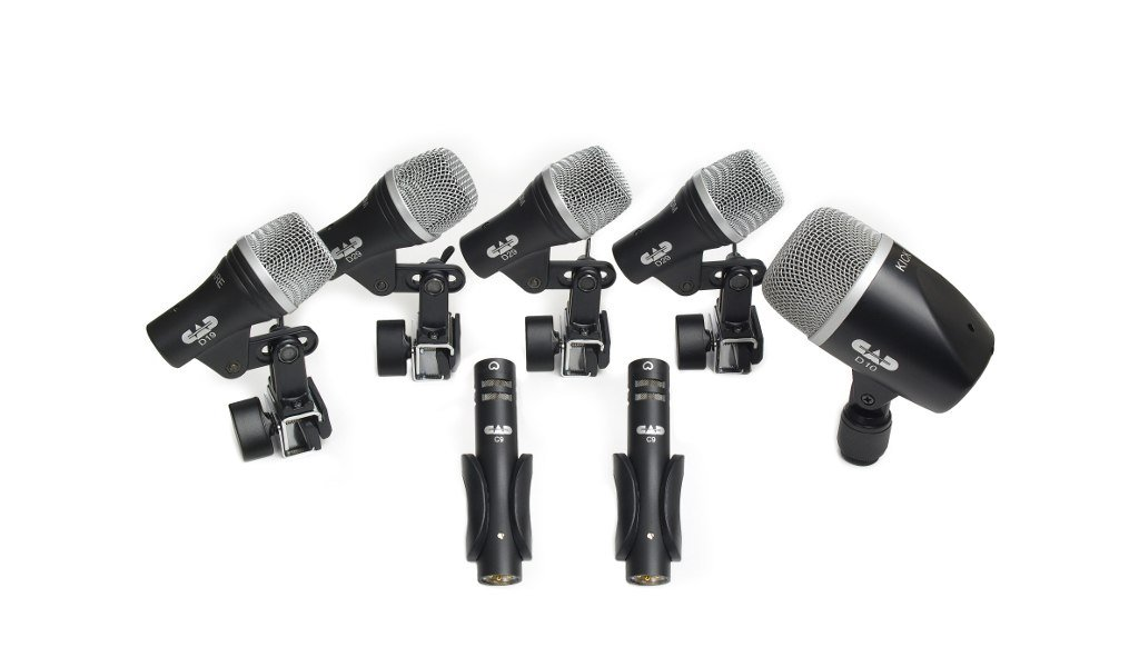 CAD STAGE7 7-PIECE DRUM MICROPHONE PACK - (3) D29, (2) C9, (1) D19, (1) D10