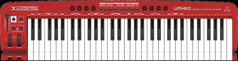 BEHRINGER UMX610 U CONTROL USB/MIDI CONTROLLER 61 KEYS W/SOFTWARE