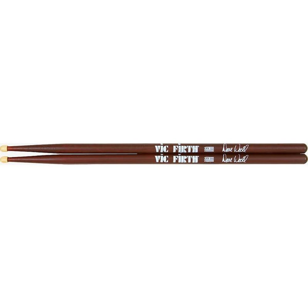 VIC FIRTH DRUMSTICKS SDW DAVE WECKL WOOD TIP