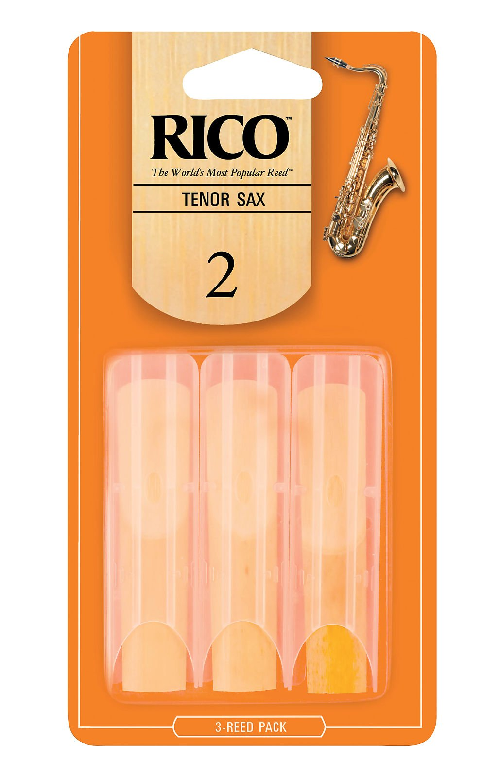 RICO TENOR SAX REED SIZE #2 (3 PACK)