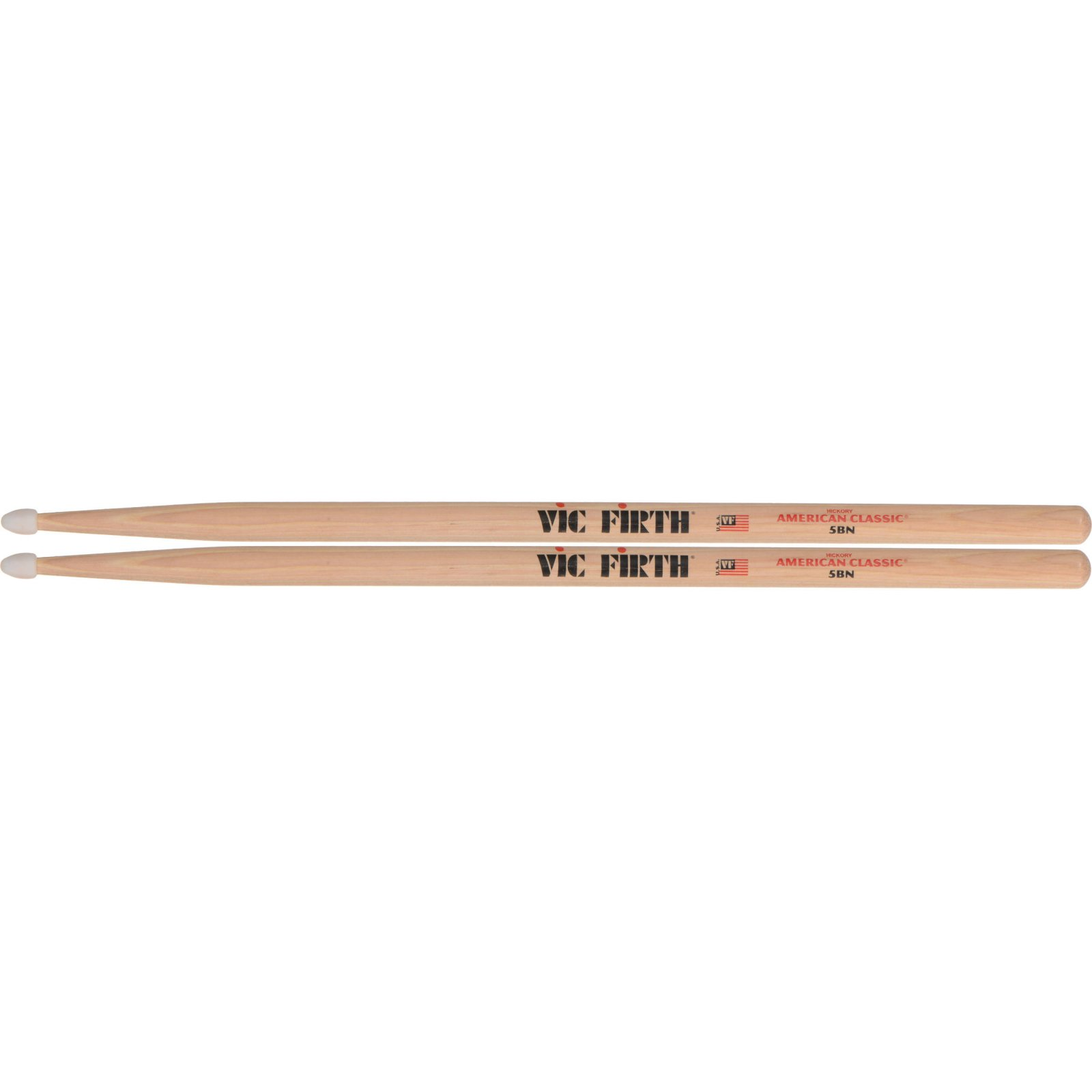 VIC FIRTH DRUMSTICKS 5BN CLASSIC NYLON TIP