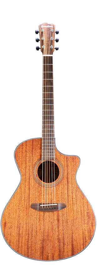 BREEDLOVE WILDWOOD WWCO01CEAMAM ACOUSTIC-ELECTRIC GUITAR CONCERTO SATIN CE AFRICAN MAHOGANY-AFRICAN MAHOGANY