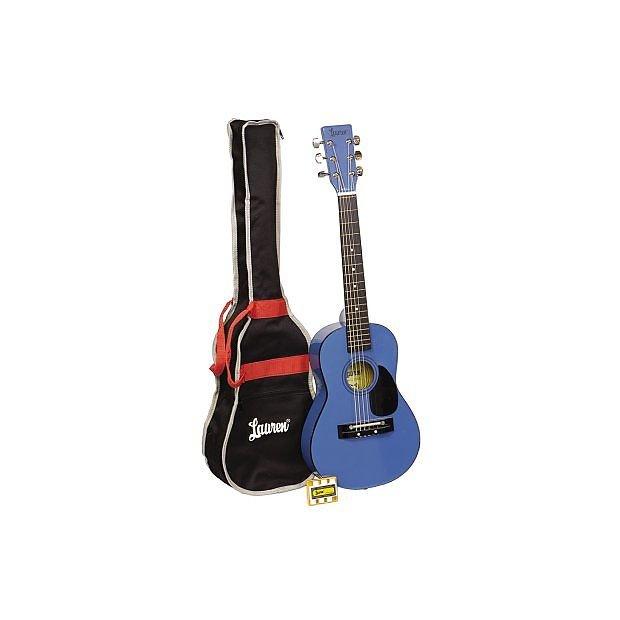 LAUREN LAPKMBL CHILDRENS GUITAR PACK (GUITAR/BAG/PITCH PIPE) BLUE