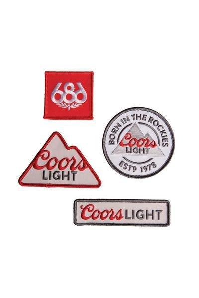 686 COORS LIGHT PATCH SET
