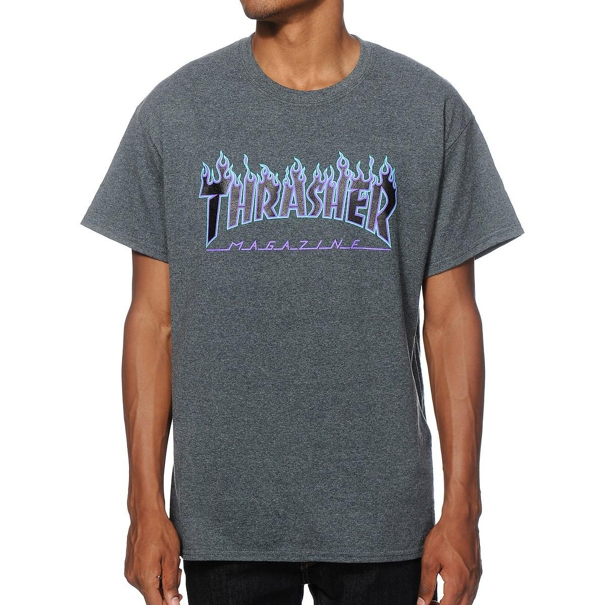 Thrasher Blue Flame T-Shirt
