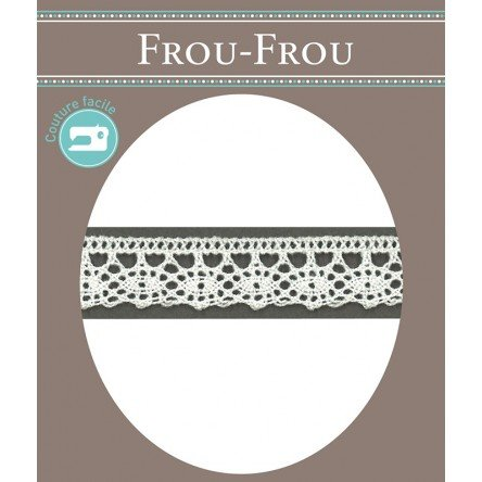 Frou-Frou 1/2in Crocheted Lace White