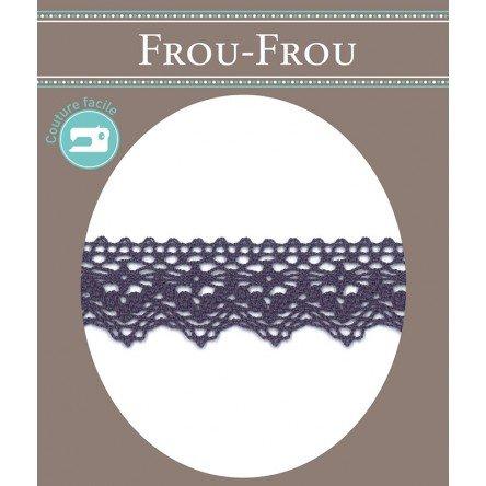 Frou-Frou 1in Crocheted Lace Purple