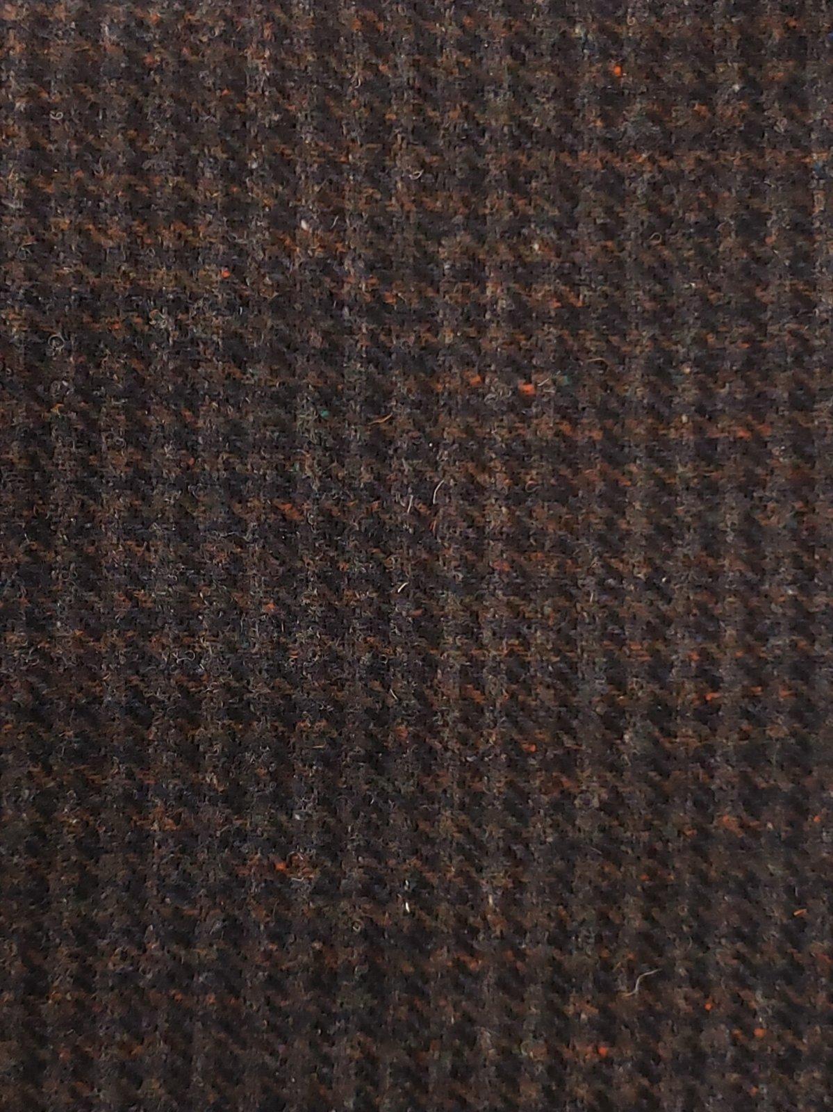 Black/Gray Plaid 100% Wool - 15 x 18