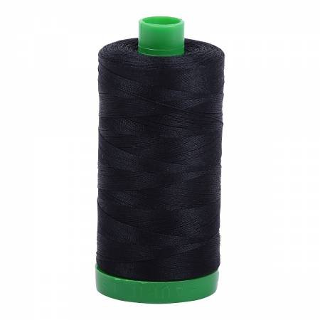 Mako Cotton Embroidery Thread 40wt 1094yds 2692 Black