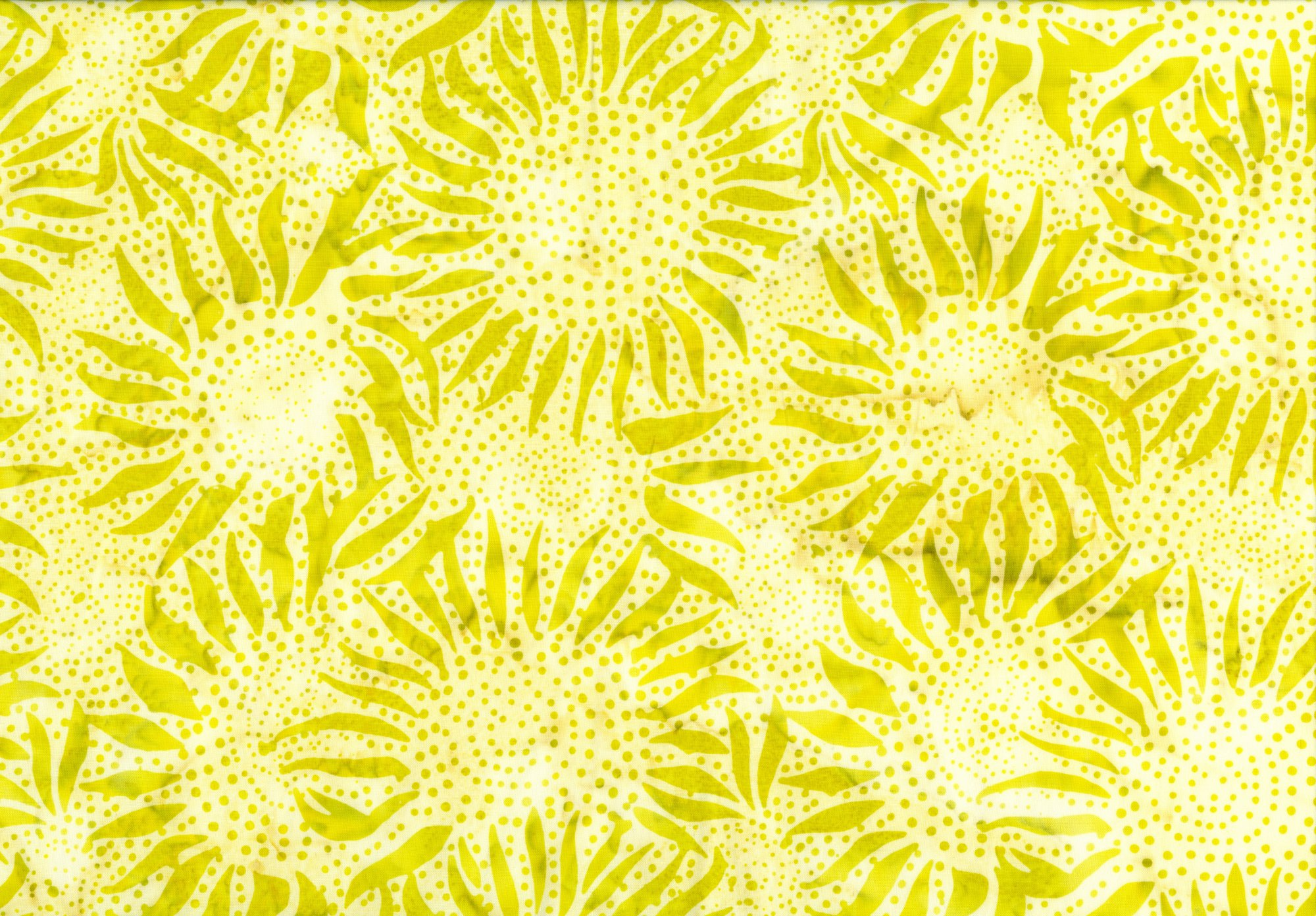 Bali Batik - Classic Sunflower - Key Lime