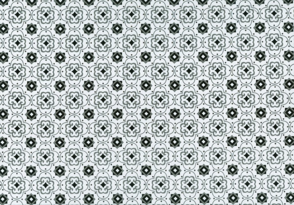 Fade to Black - Squares & Dots - White